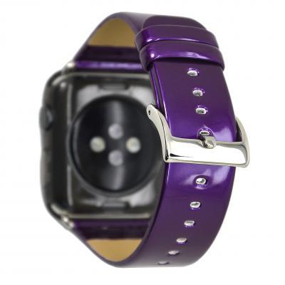 Ремешок для apple watch 38мм из кожи фиолетовый AW33-05