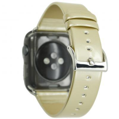 Ремешок для apple watch 42мм из кожи бежевый AW33-106