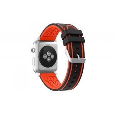 Оранжево-черный силиконовый ремешок для apple watch 38 мм AW36-01