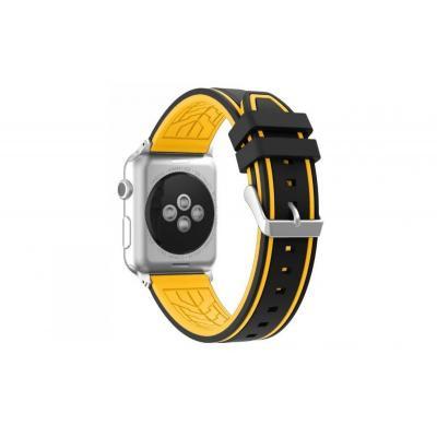 Желто-черный силиконовый ремешок для apple watch 42мм AW36-102