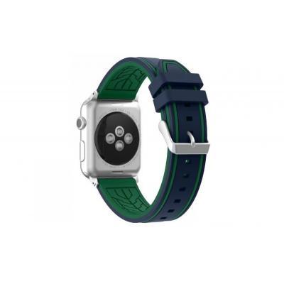 Сине-зеленый силиконовый ремешок для apple watch 38мм AW36-03