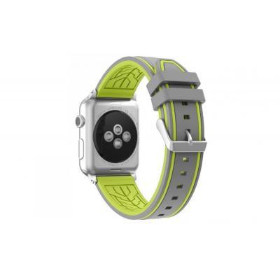 Ремешок для apple watch 42мм силиконовый серо-зеленый AW36-104