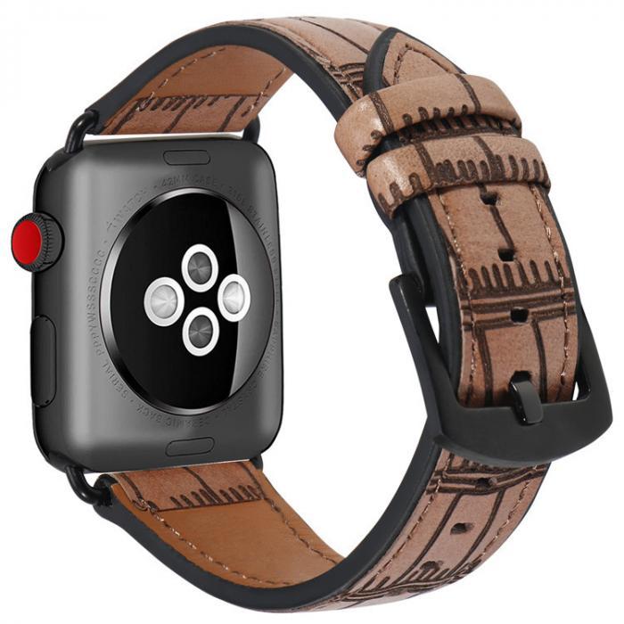 Светло-коричневый кожаный ремешок для apple watch 38 мм AW38-01