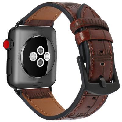 Темно-коричневый кожаный ремешок для apple watch 38мм AW38-02