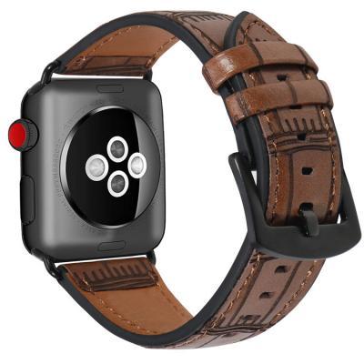 Ремешок для apple watch 38мм из кожи коричневый AW38-04