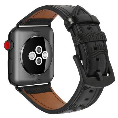 Ремешок для apple watch 38мм из кожи черный AW38-06