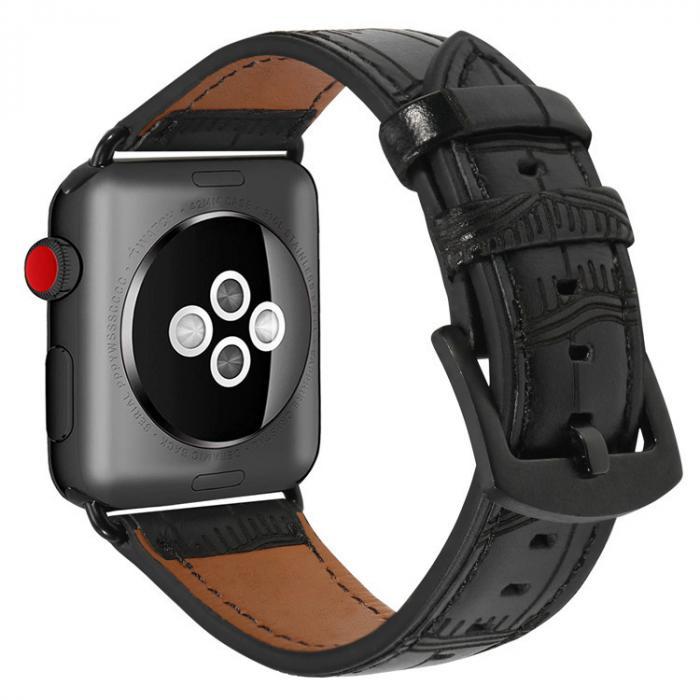 Ремешок для apple watch 42мм из кожи черный AW38-106