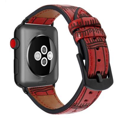 Красный ремешок для apple watch 38мм из кожи AW38-07