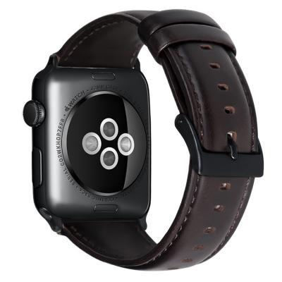 Темно-коричневый кожаный ремешок для apple watch 42мм AW39-102