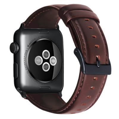 Кожаный коричневый ремешок для apple watch 38мм AW39-03