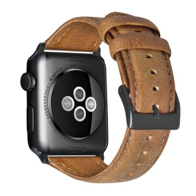 Ремешок для apple watch 38мм из кожи светло-коричневый AW39-04
