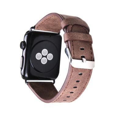 Коричневый кожаный ремешок для apple watch 42 мм AW40-101