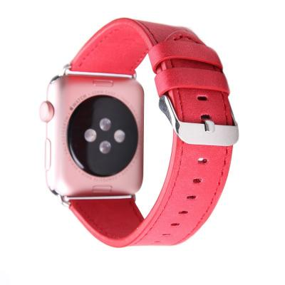 Красный кожаный ремешок для apple watch 38мм AW40-02