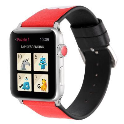 Красный кожаный ремешок для apple watch 38мм AW41-02