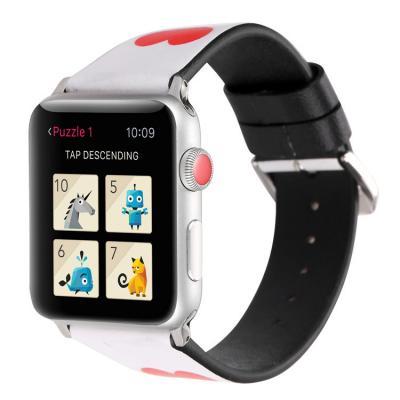 Кожаный белый ремешок для apple watch 42мм AW41-103