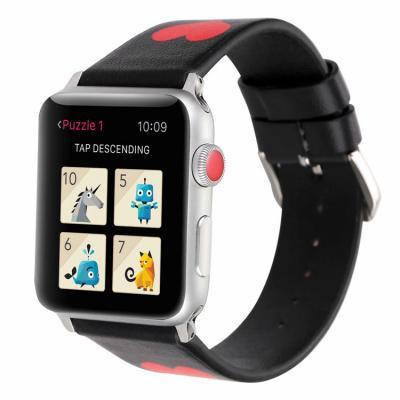 Ремешок для apple watch 38мм из кожи черный AW41-04