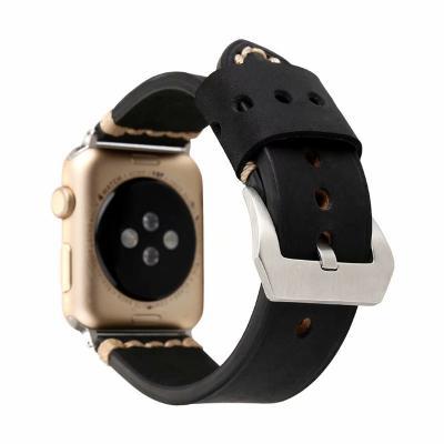Черныйкожаный ремешок для apple watch 42мм AW42-102
