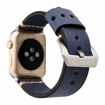 Кожаный ремешок для apple watch 42мм серый AW42-103