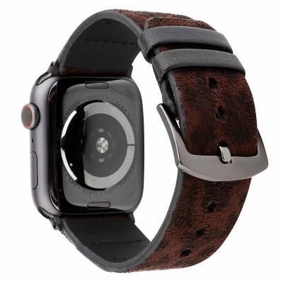 Ремешок для apple watch 42мм из кожи коричневый леопардовый принт AW44-104