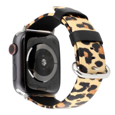 Кожаный ремешок для apple watch 38мм желтый леопард AW45-03