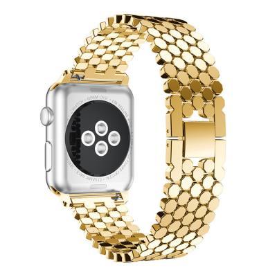 Ремешок для apple watch 42мм из нержавеющей стали золотистый AW46-101