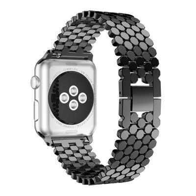 Универсальный черный ремешок из стали для apple watch 38 мм AW46-03