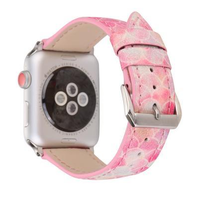 Ремешок для apple watch 38 мм кожаный розовый AW48-01