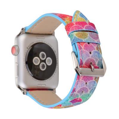 Радужный кожаный ремешок для apple watch 42мм AW48-102