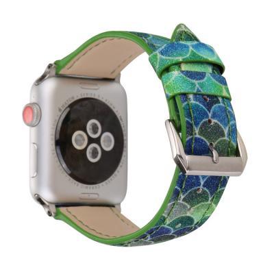 Зеленый ремешок для apple watch 42мм из кожи AW48-104