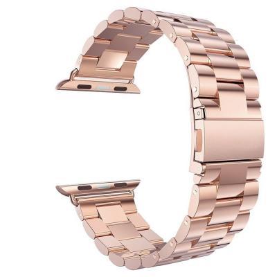 Ремешок для apple watch 38мм из нержавеющей стали розовый AW5-01