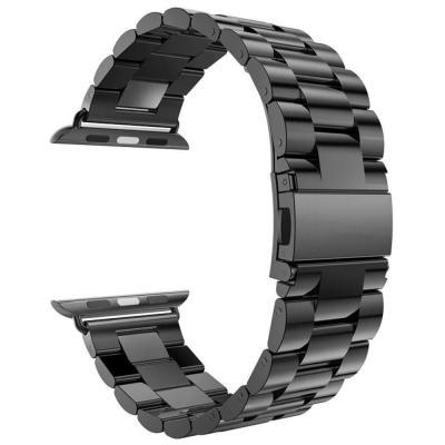Черный металлический ремешок для apple watch 42мм AW5-102