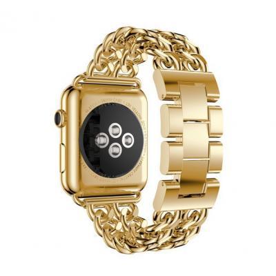 Ремешок для apple watch 42мм из нержавеющей стали золотистый AW51-101