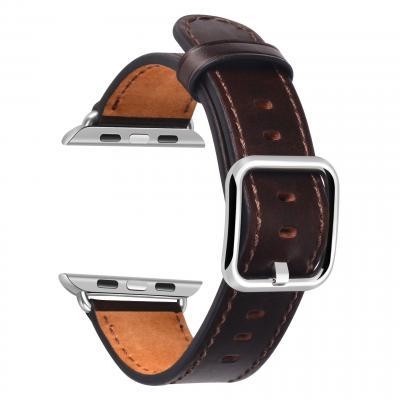Коричневый кожаный ремешок для apple watch 42 мм AW52-101