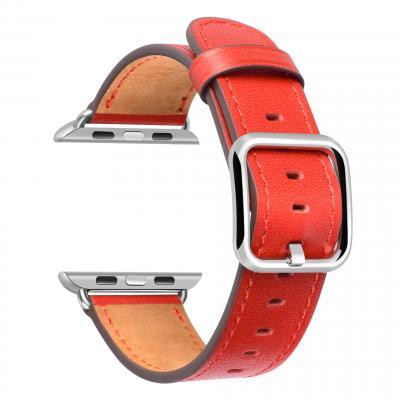 Красный кожаный ремешок для apple watch 42мм AW52-102