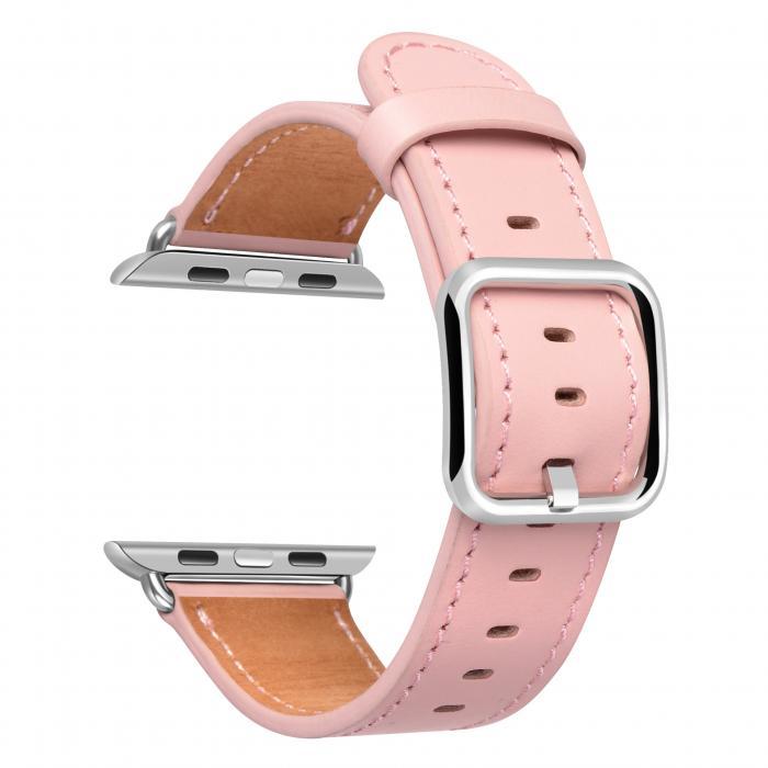 Ремешок для apple watch 42мм из кожи розовый AW52-104
