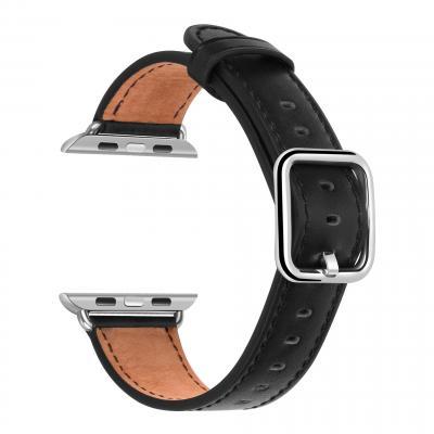 Ремешок для apple watch 38мм из кожи черный AW52-05