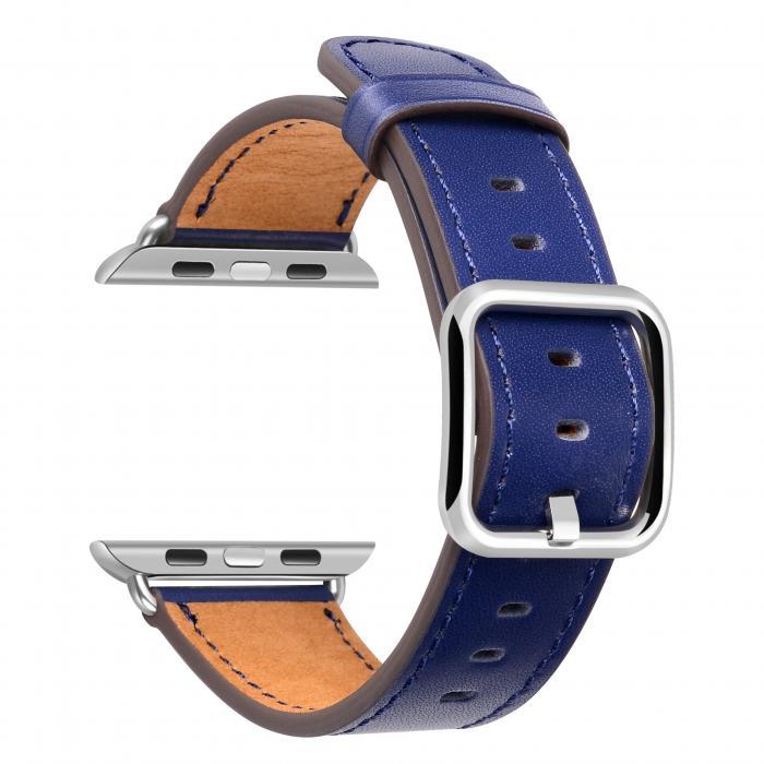 Ремешок для apple watch 42мм из кожи синий AW52-106