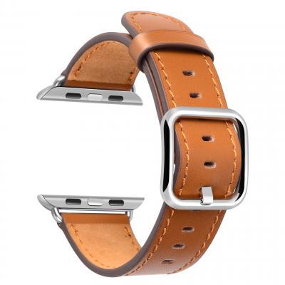 Ремешок для apple watch 42мм из кожи светло-коричневый AW52-107