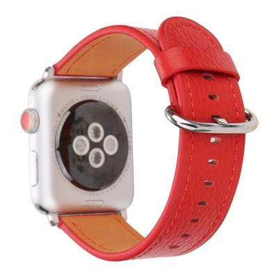 Красный кожаный ремешок для apple watch 42мм AW53-102