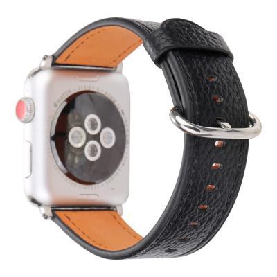Кожаный черный ремешок для apple watch 38мм AW53-03