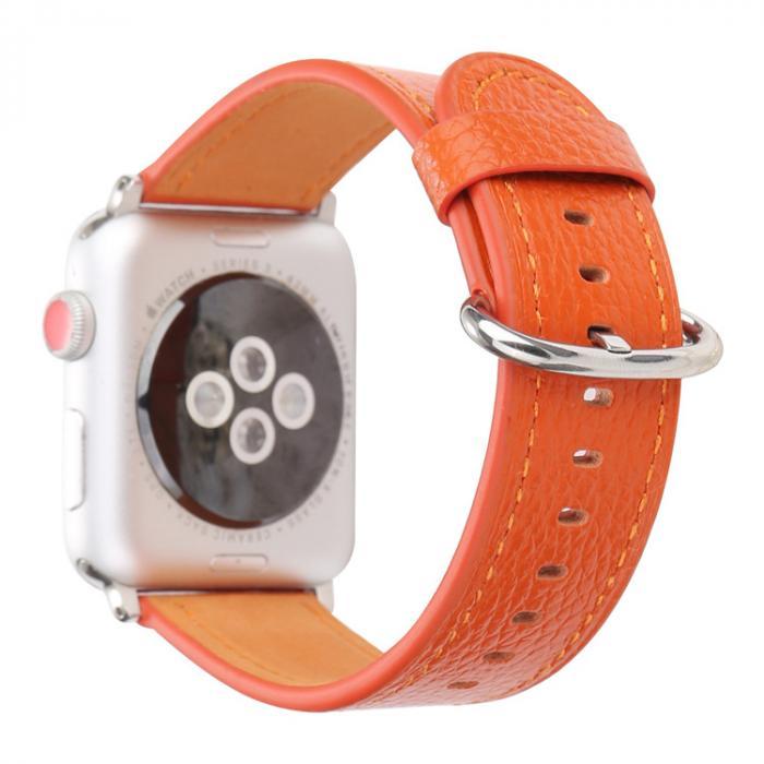 Ремешок для apple watch 42мм из кожи оранжевый AW53-104