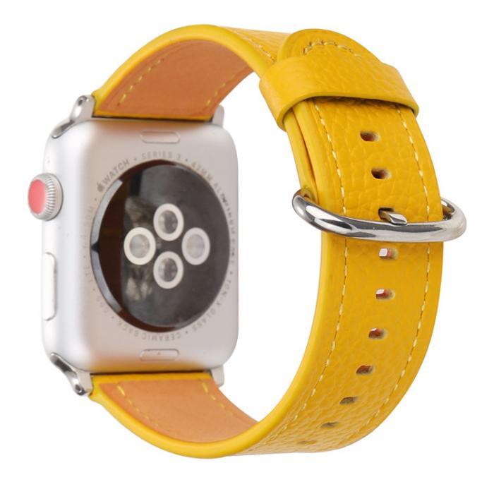 Ремешок для apple watch 42мм из кожи желтый AW53-105