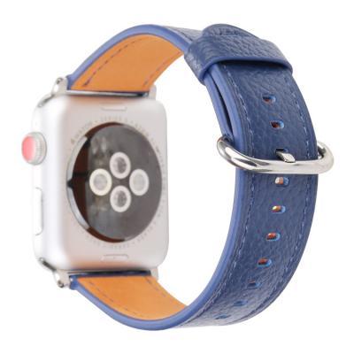 Ремешок для apple watch 42мм из кожи синий AW53-106