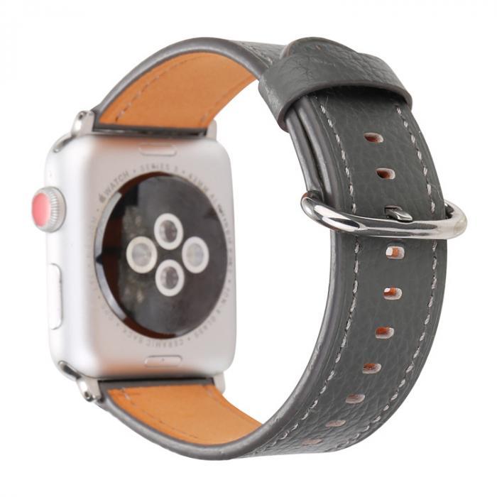 Ремешок для apple watch 42мм из кожи серый AW53-107