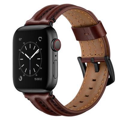 Ремешок для apple watch 38мм темно-коричневый из кожи AW54-02