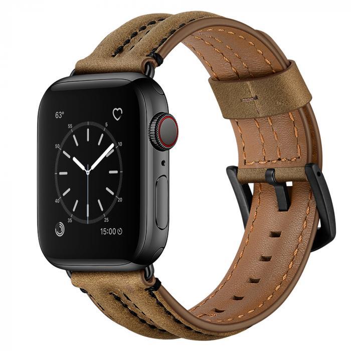 Кожаный ремешок для apple watch 42мм коричневый AW54-103