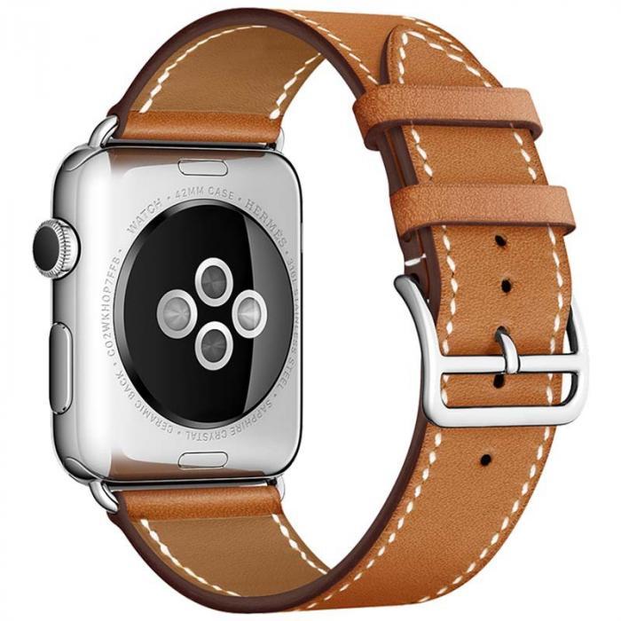 Ремешок для apple watch 38мм коричневый из кожи AW55-02