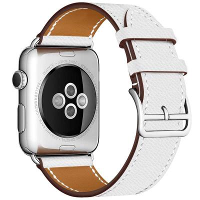 Кожаный ремешок для apple watch 38мм белый AW55-03