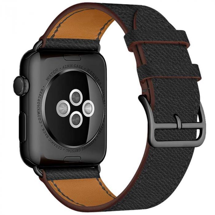 Ремешок для apple watch 38мм черный из кожи AW55-05