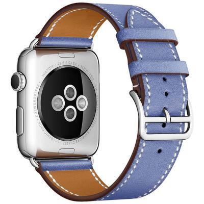 Кожаный ремешок для apple watch 38мм синий AW55-06